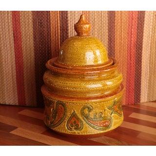 Aldo Londi for Bitossi Paisley Lidded Pottery Jar Preview