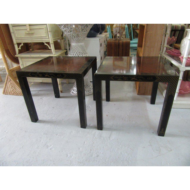 Asian Inspired Drexel Side Tables - a Pair - Image 9 of 9