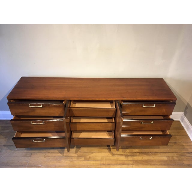 Mid 20th Century Vintage Walnut Credenza For Sale - Image 4 of 10