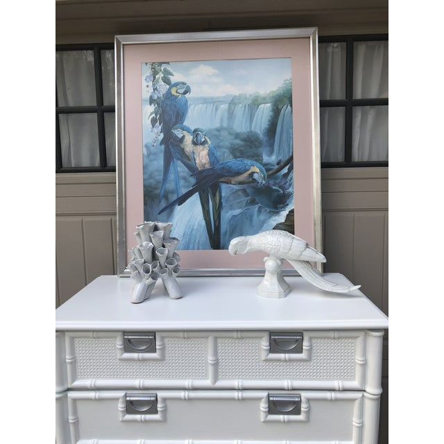 White Stanley Furniture Faux Bamboo Chest of Drawers For Sale - Image 8 of 10