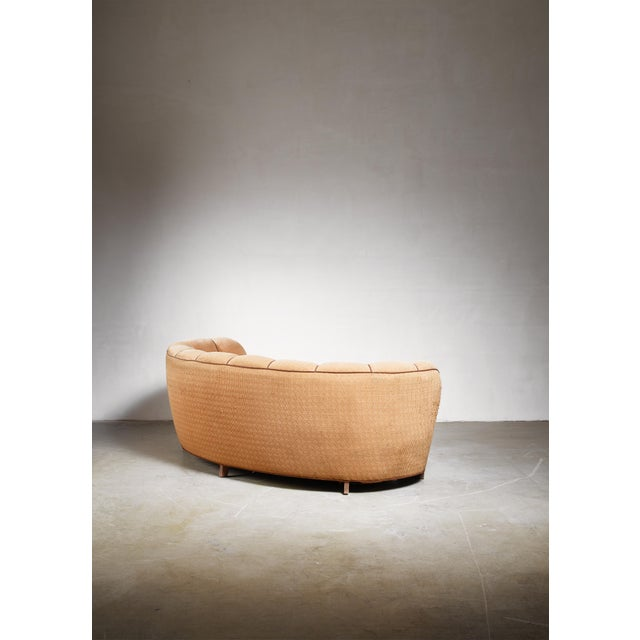 Curved Danish Sofa, 1940s For Sale - Image 4 of 6