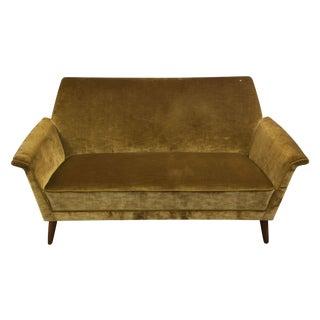 Vintage Golden Velour Love Seat