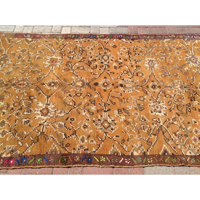 "Vintage Anatolian Rug - 4'5"" X 8'3"" For Sale - Image 4 of 7"
