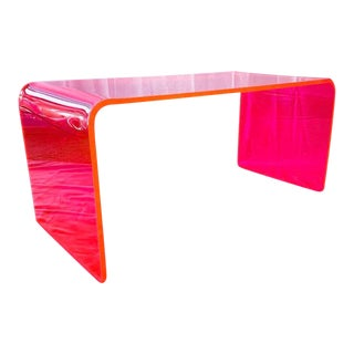 Memphis Lit Neon Pink Coffee Table For Sale