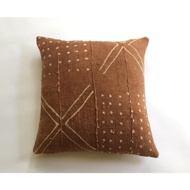 African Mudcloth Rust Pillow Cover - Image 4 of 7