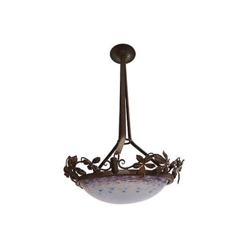 Antique Bauer French Ceiling Lamp For Sale In New York - Image 6 of 6