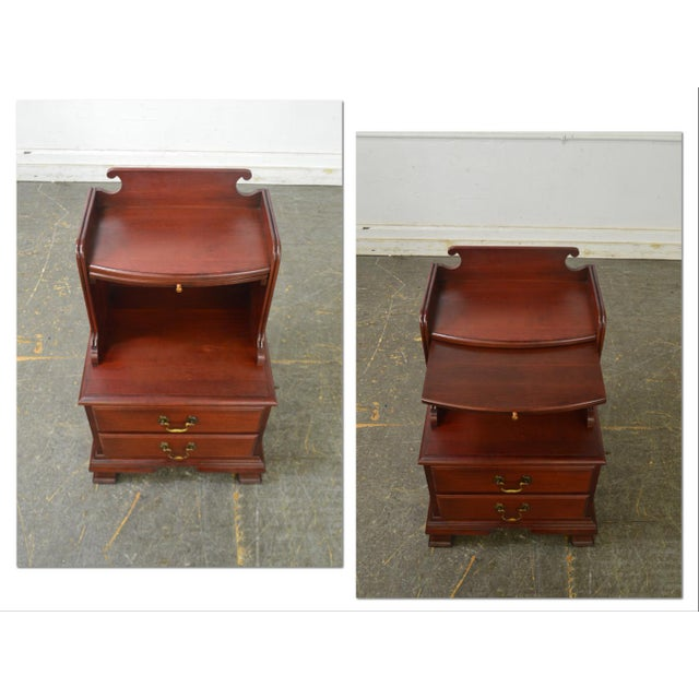 Traditional Pennsylvania House Mt Vernon Pair of Solid Cherry Vintage Nightstands For Sale - Image 3 of 13