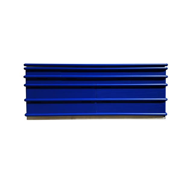 Mid-Century Modern Art Deco Blue Klein Jay Spectre Dresser - Image 1 of 6