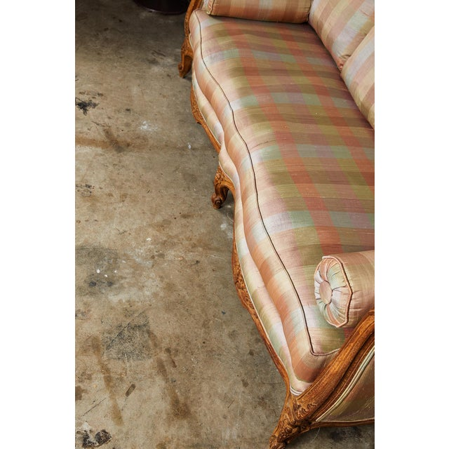 20th Century Louis XV Style Carved Wood Sofa or Daybed For Sale - Image 11 of 13