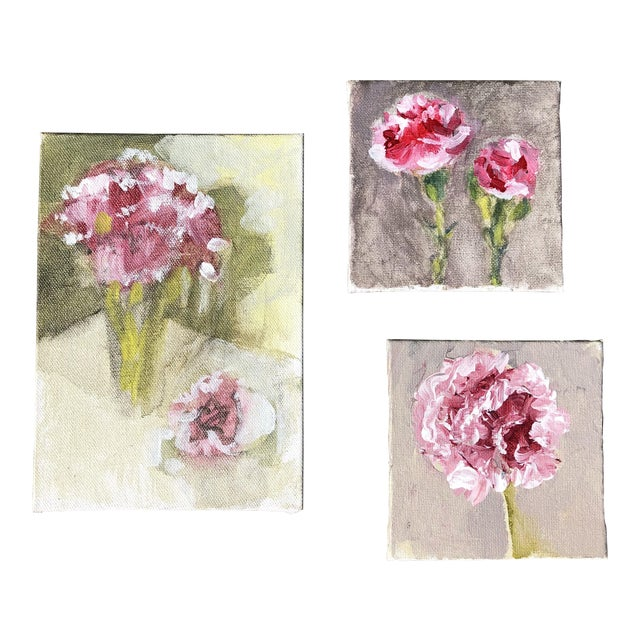 Gallery Wall Collection 3 Original Contemporary Impressionist Small Still Life Paintings For Sale