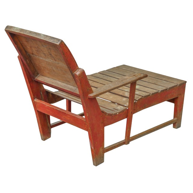 Late 19th C. Primitive Painted Chaise For Sale In New York - Image 6 of 11