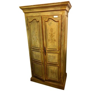 Italian Paint Decorated Cabinet or Wardrobe For Sale