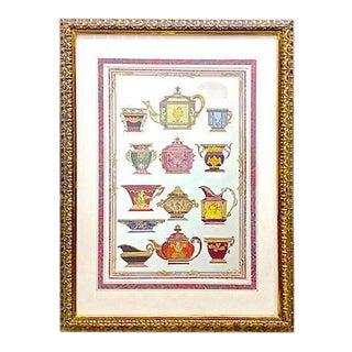 Vintage French Porcelain Teapot Print