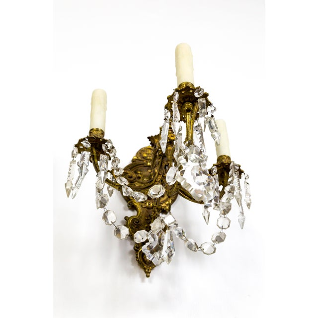 Belle Epoque Highly Detailed Belle Epoque Style Sconces (Pair) For Sale - Image 3 of 13