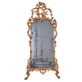 Mid 18th Century Italian Giltwood Pier Rococo Mirror