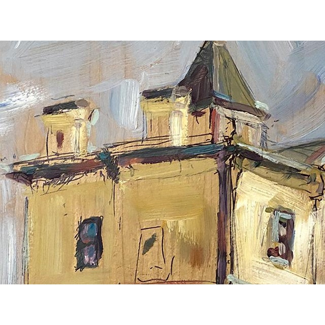 Abstract Expressionist Original Oil Painting by Rebecca Dvorak – Virginia Museum of Fine Arts, Robinson House For Sale - Image 4 of 12