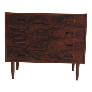 Small Danish Chest of Drawers in Rosewood For Sale
