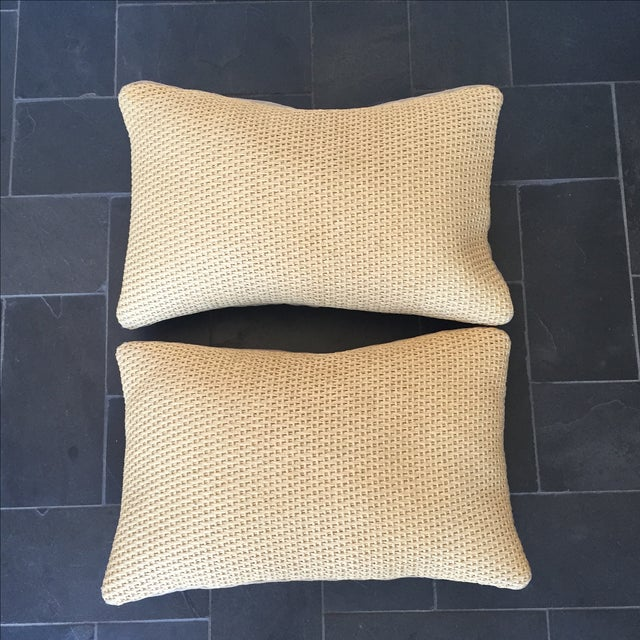 Williams Sonoma Woven Linen Pillow Covers - A Pair - Image 3 of 8