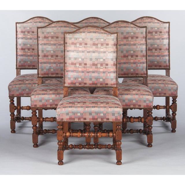1920s Louis XIII Style Upholstered Walnut Chairs - Set of 6 For Sale - Image 13 of 13