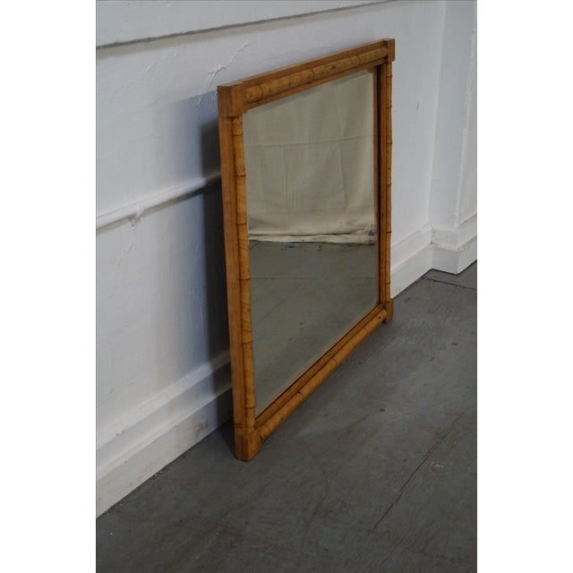 Antique Bamboo Frame Beveled Glass Wall Mirror Chairish