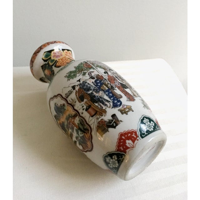 Late 20th Century Vintage Satsuma Ceramic Glazed Vases - Set of 3 For Sale - Image 5 of 7