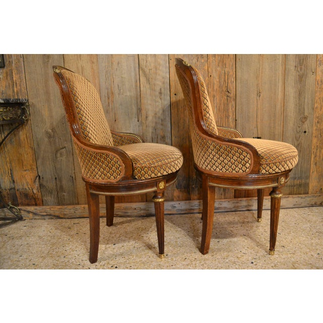 Late 19th Century Pair of Antique French Louis XVI Occasional Chairs circa 1880 For Sale - Image 5 of 8