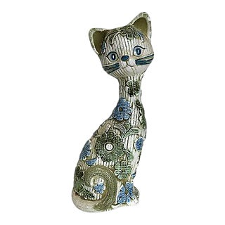 1960s Ceramic Cat by Inarco For Sale