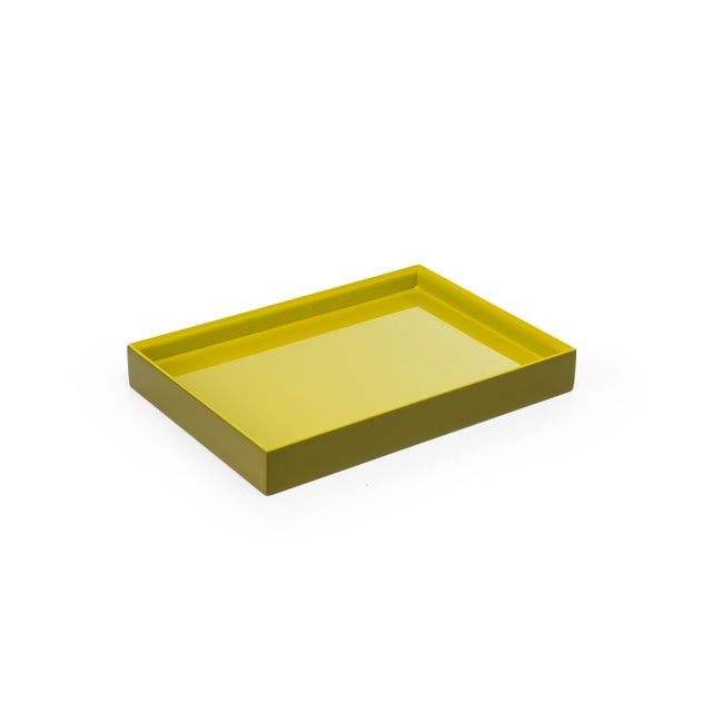 Pentreath & Hall Collection Small Tray in Olive Green / Chartreuse For Sale - Image 4 of 4