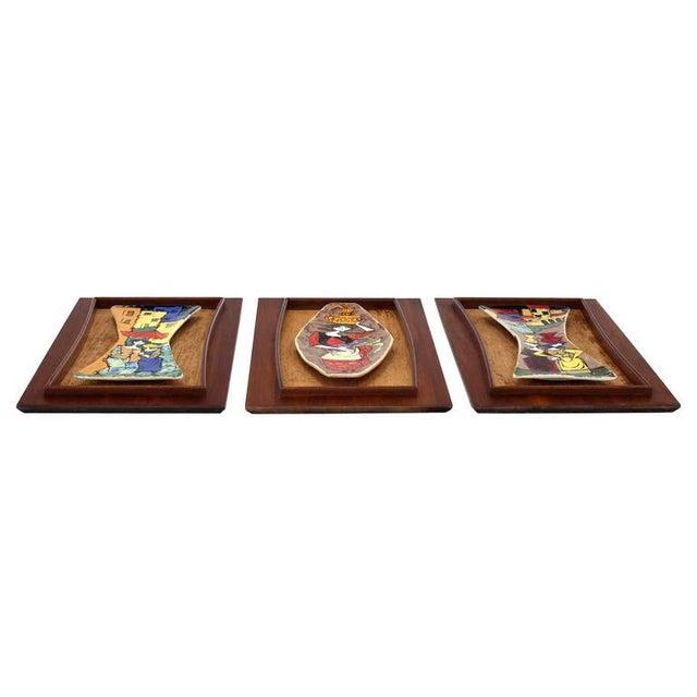 Set of Three Framed Art Tiles For Sale - Image 9 of 9