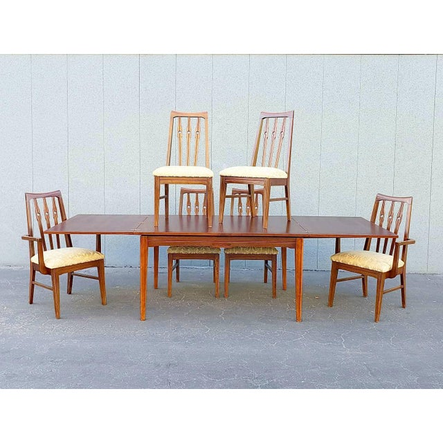 1950s Mid Century Morriss Dining Set - 7 Pieces For Sale - Image 5 of 5