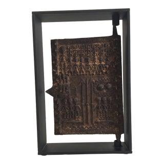 Mounted Sculptural Bronze Dogon Door For Sale