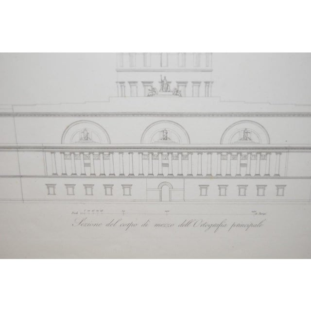 19th Century Architectural Engraving For Sale - Image 4 of 5
