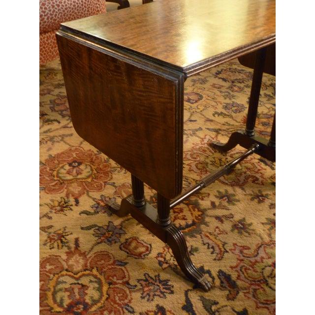 Brass Vintage John Wanamaker NY Regency Style Burl Walnut Coffee Table For Sale - Image 7 of 8