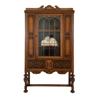 20th Century Jacobean China Cabinet For Sale
