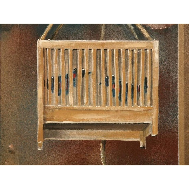 "1990s Zuleyka Benitez ""Dog in the Window"" Painting For Sale - Image 5 of 9"