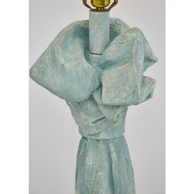 Plaster Vintage Dickinson Style Plaster Floor Lamp in Form of Draped Cloth For Sale - Image 7 of 11