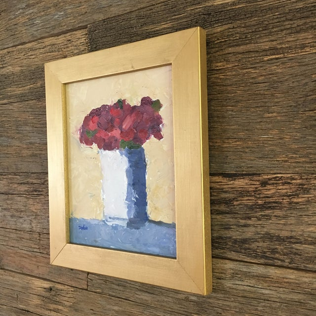 Red Roses Still Life Oil Painting - Image 3 of 6