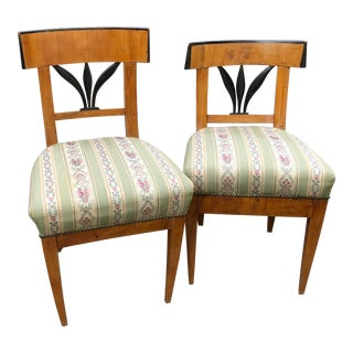 Pair of South German Biedermeier Chairs For Sale