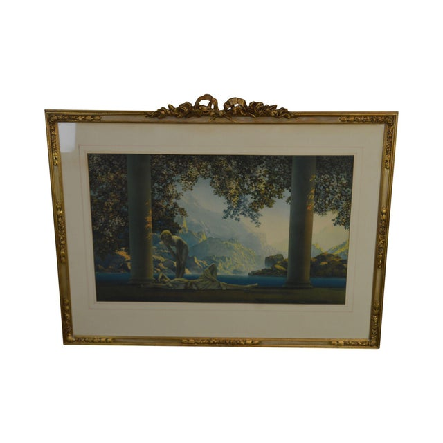 "Maxfield Parrish ""Daybreak Vintage Framed Print or Lithograph For Sale - Image 13 of 13"