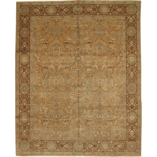 "Pasargad Antique Persian Tabriz Lamb's Wool Rug - 10'5"" X 13'0"" For Sale"