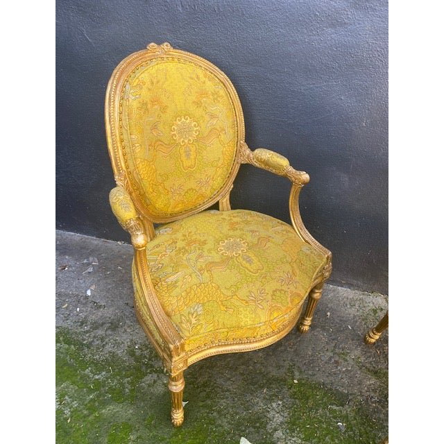 19th C. English Giltwood Armchairs - a Pair For Sale - Image 12 of 13