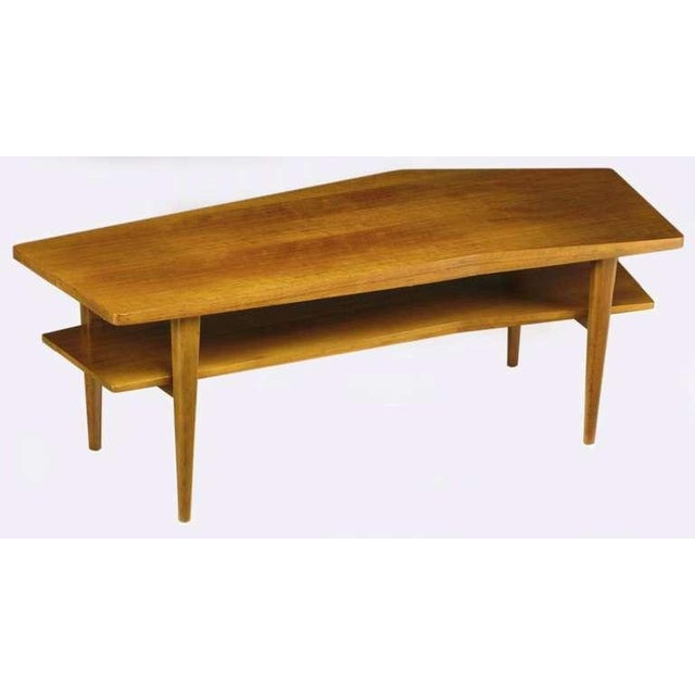 M.Singer & Sons Angled Italian Walnut Coffee Table - Image 4 of 9