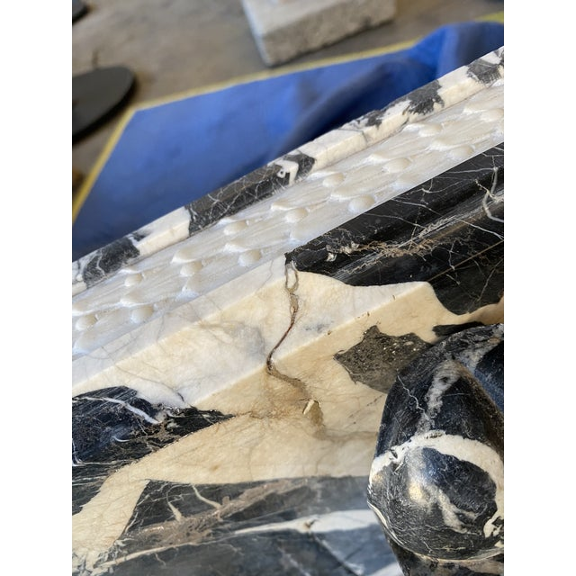 19th Century Black Marble Entryway Shelf/Fireplace Surround For Sale In Los Angeles - Image 6 of 13