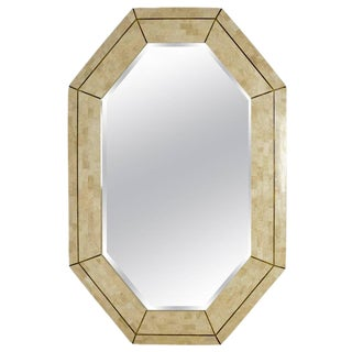 Maitland Smith Tessellated Coral With Brass Inlay Mirror For Sale