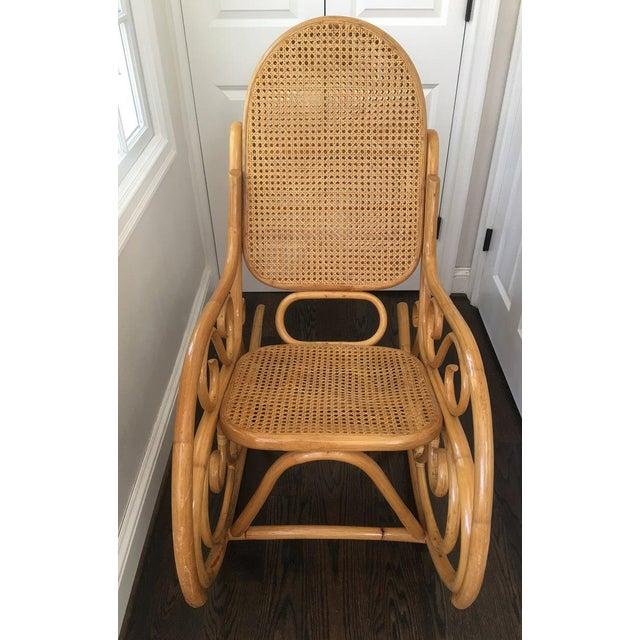 Tremendous Mid Century Boho Chic Bentwood Bamboo Rocking Chair Machost Co Dining Chair Design Ideas Machostcouk