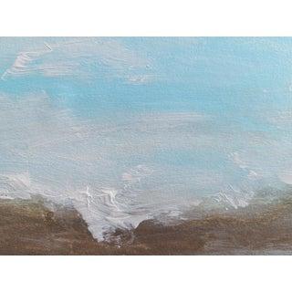 """Beach Calm"" Contemporary Minimalist Coastal Seascape Mixed-Media Painting For Sale"