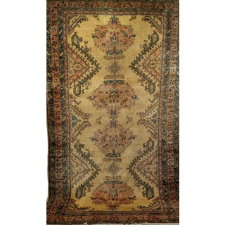 1920s Handwoven Turkish Oushak Rug-7' X 12' For Sale