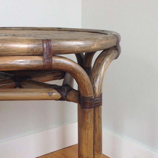 Bentwood & Rattan Side Table - Image 3 of 8