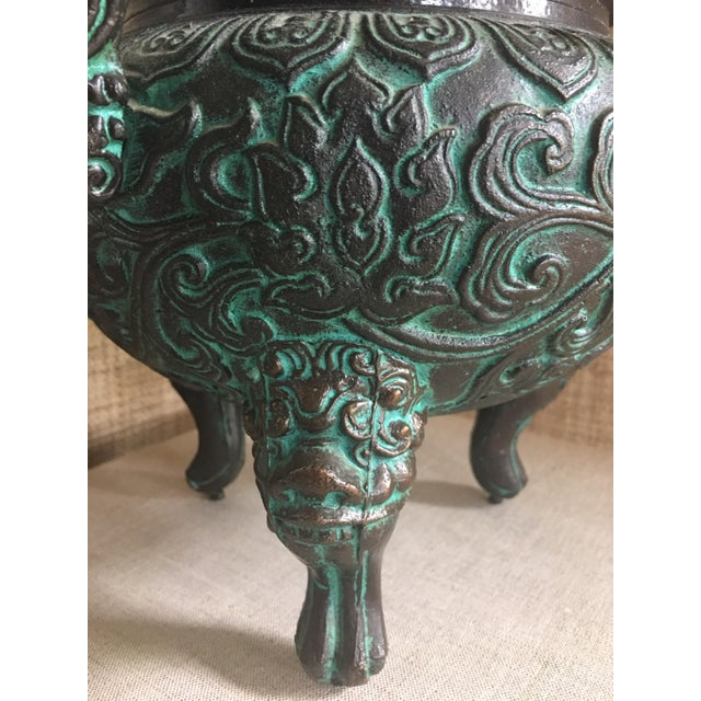 Midcentury James Mont Style Asian Style Greek Key Ice Bucket Urn For Sale - Image 10 of 13