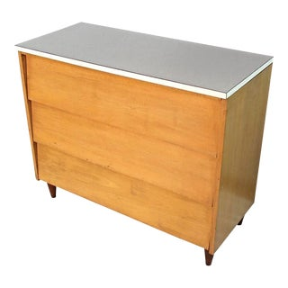 Mid-Century Modern Blond Wood Chest of Drawers